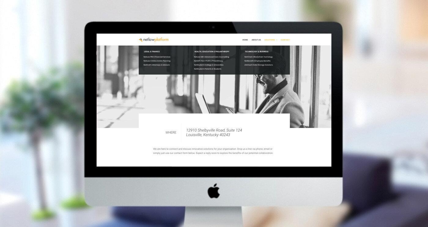 NetLaw Platform Contact page