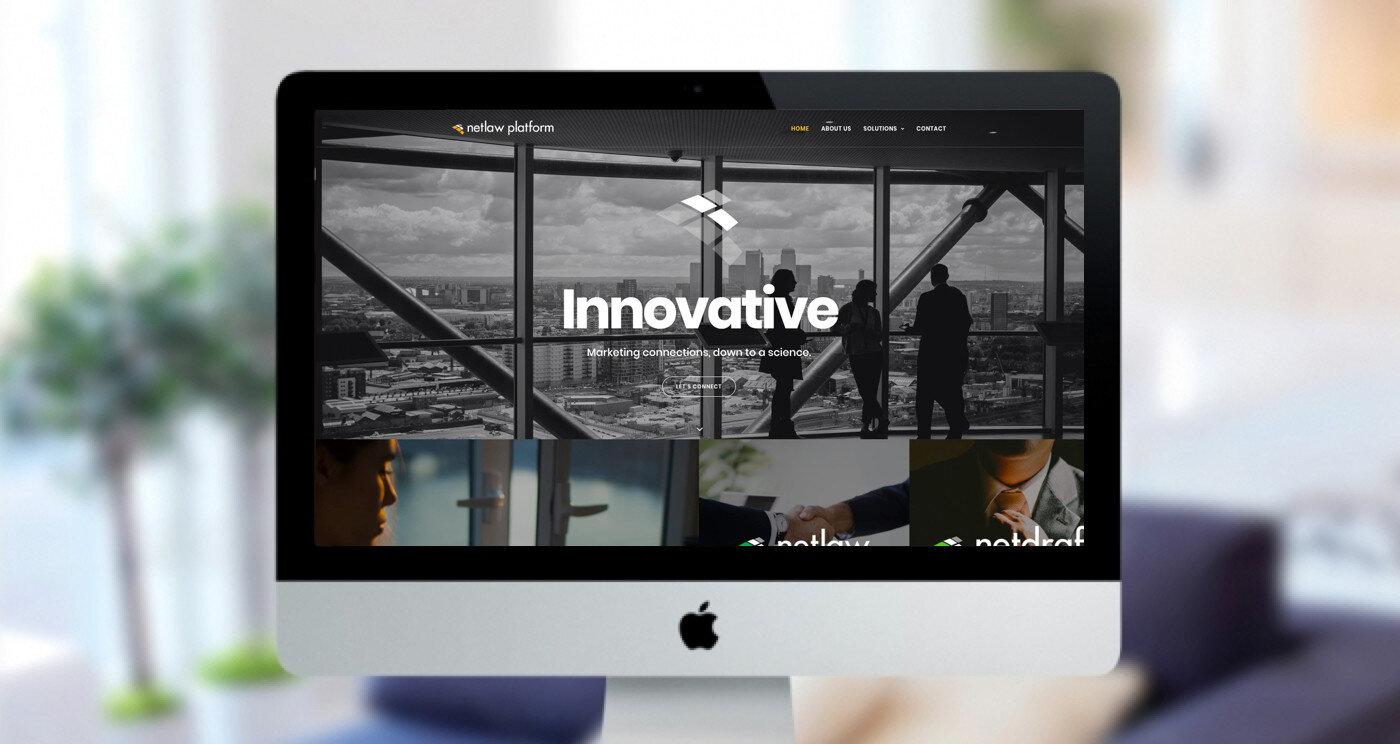 NetLaw Platform Homepage design