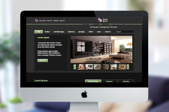 House About Desktop Homepage