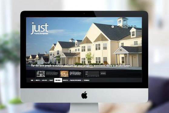 Just Property Management web mockup